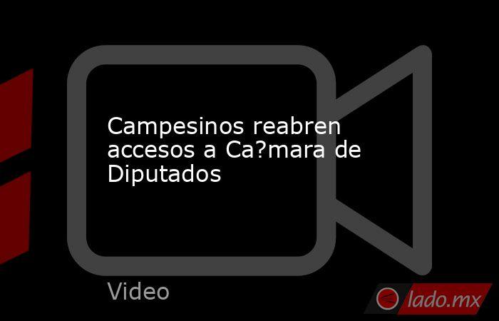 Campesinos reabren accesos a Ca?mara de Diputados. Noticias en tiempo real