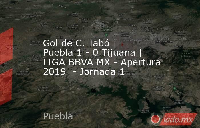Gol de C. Tabó | Puebla 1 - 0 Tijuana | LIGA BBVA MX - Apertura 2019  - Jornada 1. Noticias en tiempo real