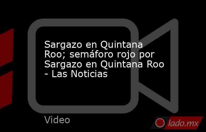 Sargazo en Quintana Roo; semáforo rojo por Sargazo en Quintana Roo - Las Noticias. Noticias en tiempo real