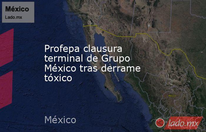 Profepa clausura terminal de Grupo México tras derrame tóxico. Noticias en tiempo real
