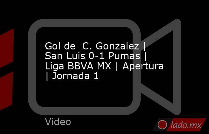 Gol de  C. Gonzalez | San Luis 0-1 Pumas | Liga BBVA MX | Apertura | Jornada 1. Noticias en tiempo real