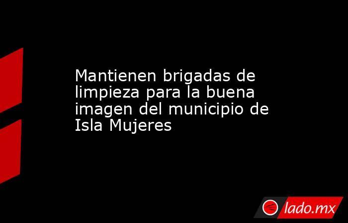 Mantienen brigadas de limpieza para la buena imagen del municipio de Isla Mujeres. Noticias en tiempo real