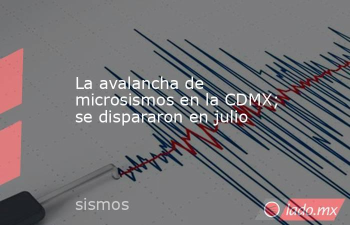 La avalancha de microsismos en la CDMX; se dispararon en julio. Noticias en tiempo real