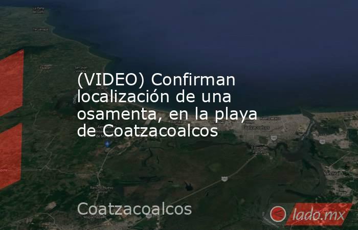 (VIDEO) Confirman localización de una osamenta, en la playa de Coatzacoalcos. Noticias en tiempo real