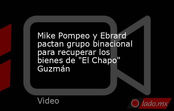 Mike Pompeo y Ebrard pactan grupo binacional para recuperar los bienes de