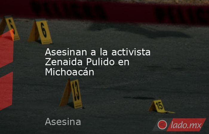 Asesinan a la activista Zenaida Pulido en Michoacán. Noticias en tiempo real