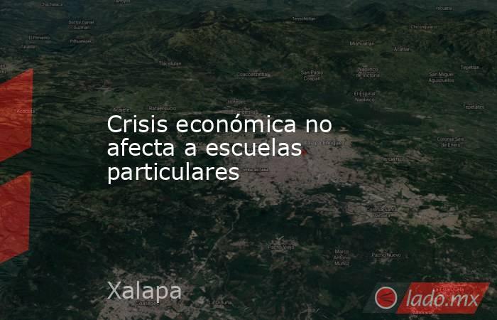 Crisis económica no afecta a escuelas particulares. Noticias en tiempo real