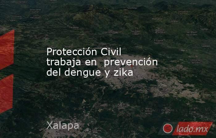 Protección Civil trabaja en  prevención del dengue y zika. Noticias en tiempo real