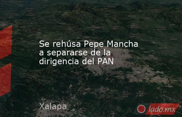 Se rehúsa Pepe Mancha a separarse de la dirigencia del PAN. Noticias en tiempo real