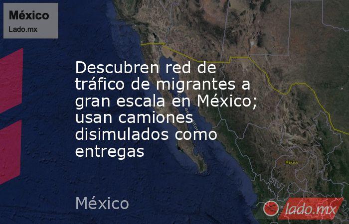 Descubren red de tráfico de migrantes a gran escala en México; usan camiones disimulados como entregas. Noticias en tiempo real