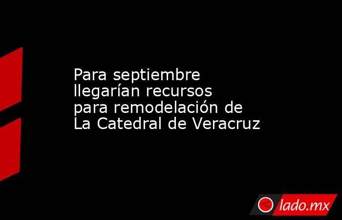 Para septiembre llegarían recursos para remodelación de La Catedral de Veracruz. Noticias en tiempo real
