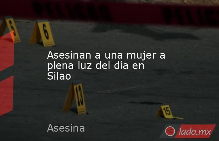 Asesinan a una mujer a plena luz del día en Silao. Noticias en tiempo real