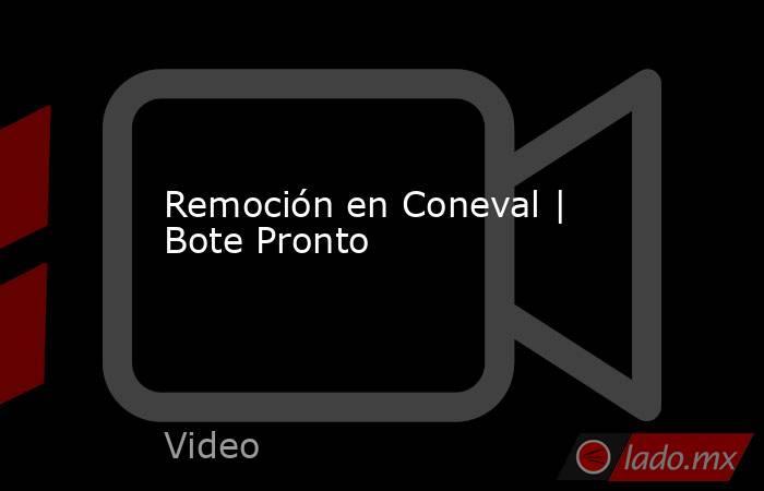 Remoción en Coneval | Bote Pronto. Noticias en tiempo real