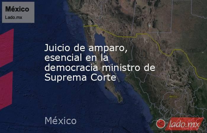 Juicio de amparo, esencial en la democracia ministro de Suprema Corte. Noticias en tiempo real