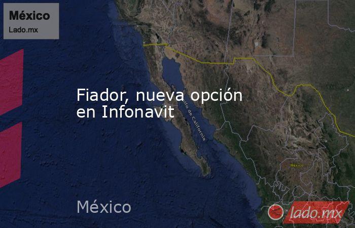 Fiador, nueva opción en Infonavit. Noticias en tiempo real