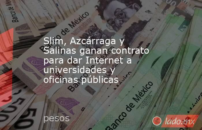 Slim, Azcárraga y Salinas ganan contrato para dar Internet a universidades y oficinas públicas. Noticias en tiempo real