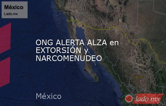 ONG ALERTA ALZA en EXTORSIÓN y NARCOMENUDEO. Noticias en tiempo real