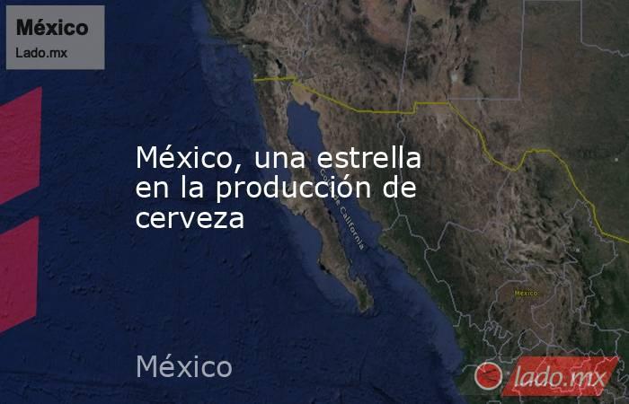 México, una estrella en la producción de cerveza. Noticias en tiempo real