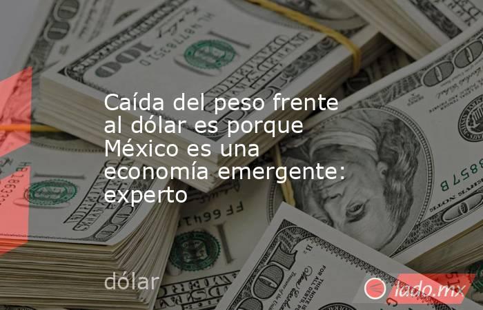 Caída del peso frente al dólar es porque México es una economía emergente: experto. Noticias en tiempo real