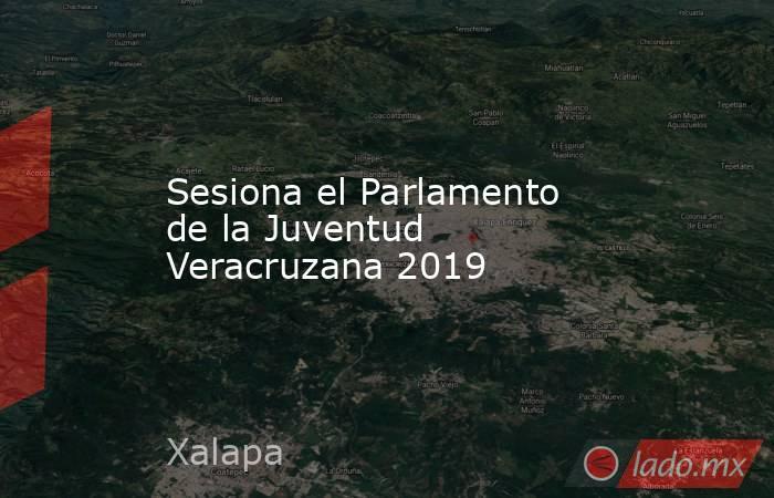 Sesiona el Parlamento de la Juventud Veracruzana 2019. Noticias en tiempo real