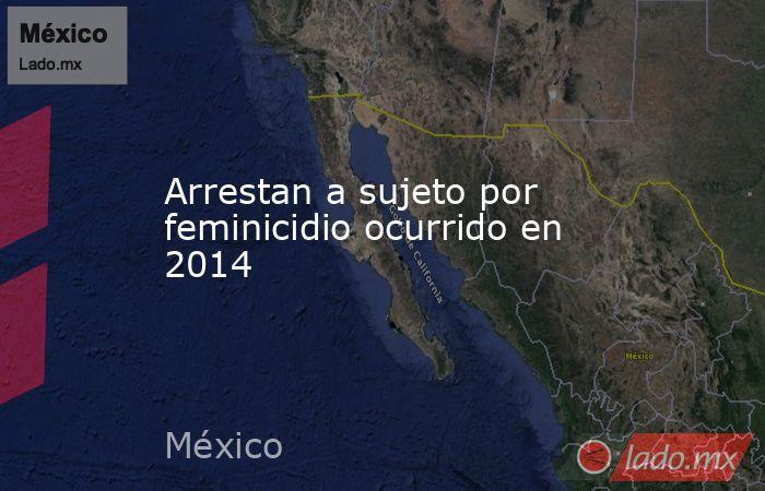 Arrestan a sujeto por feminicidio ocurrido en 2014. Noticias en tiempo real