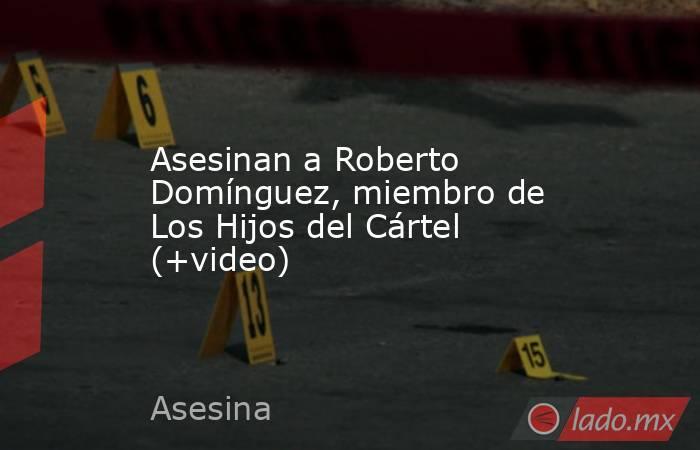 Asesinan a Roberto Domínguez, miembro de Los Hijos del Cártel (+video). Noticias en tiempo real