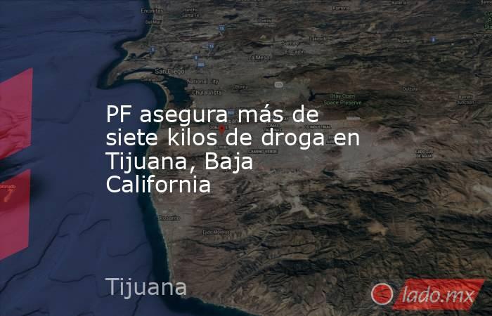 PF asegura más de siete kilos de droga en Tijuana, Baja California. Noticias en tiempo real