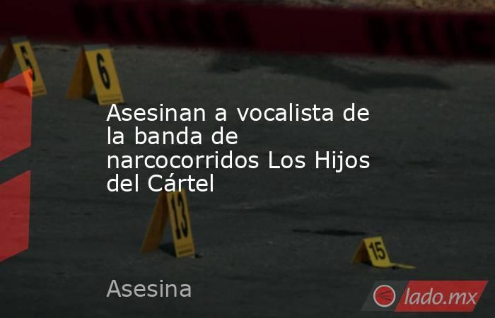 Asesinan a vocalista de la banda de narcocorridos Los Hijos del Cártel. Noticias en tiempo real