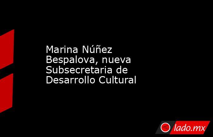 Marina Núñez Bespalova, nueva Subsecretaria de Desarrollo Cultural. Noticias en tiempo real