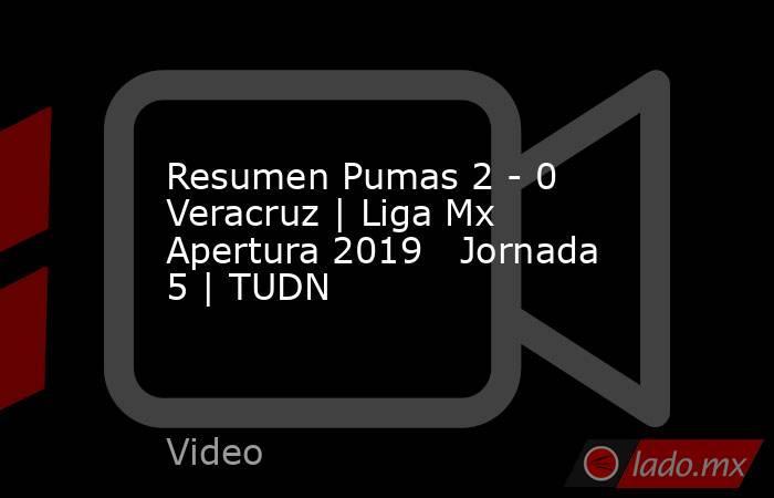 Resumen Pumas 2 - 0 Veracruz | Liga Mx Apertura 2019   Jornada 5 | TUDN. Noticias en tiempo real