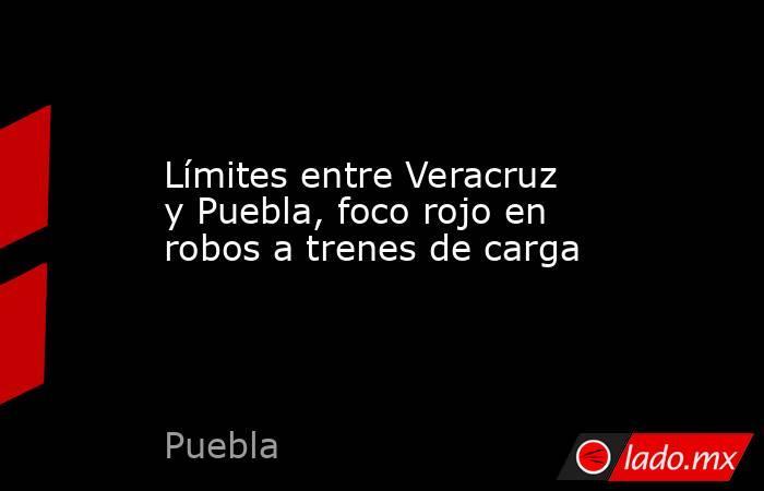 Límites entre Veracruz y Puebla, foco rojo en robos a trenes de carga. Noticias en tiempo real
