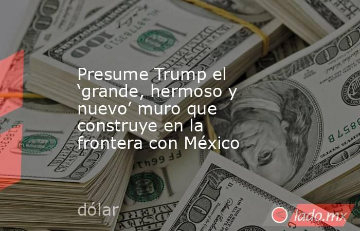 Presume Trump el 'grande, hermoso y nuevo' muro que construye en la frontera con México. Noticias en tiempo real