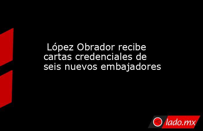 López Obrador recibe cartas credenciales de seis nuevos embajadores. Noticias en tiempo real