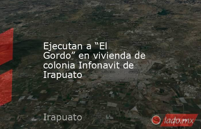 """Ejecutan a """"El Gordo"""" en vivienda de colonia Infonavit de Irapuato. Noticias en tiempo real"""