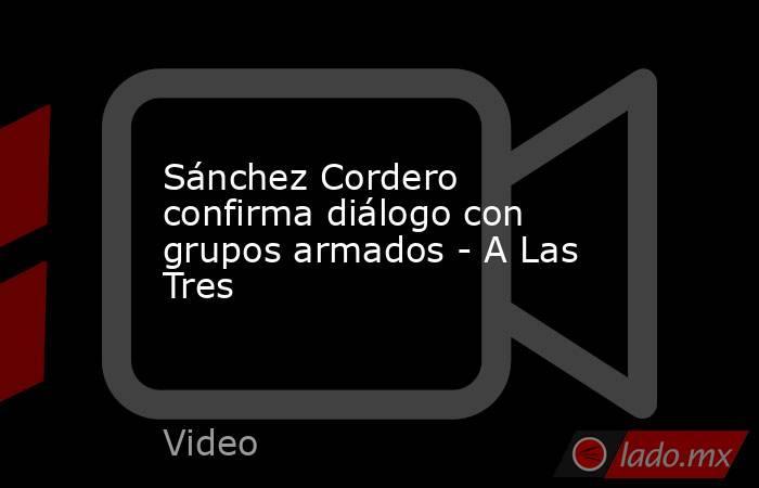 Sánchez Cordero confirma diálogo con grupos armados - A Las Tres. Noticias en tiempo real