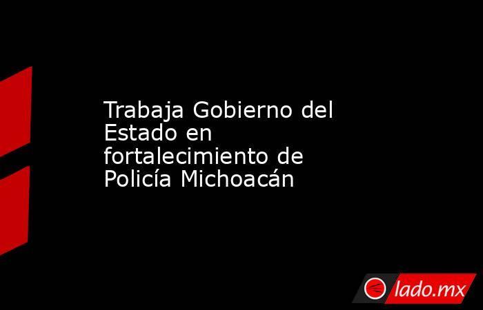Trabaja Gobierno del Estado en fortalecimiento de Policía Michoacán  . Noticias en tiempo real
