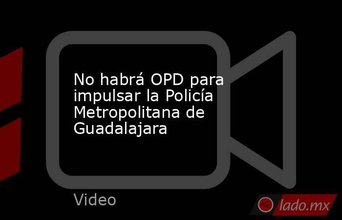 No habrá OPD para impulsar la Policía Metropolitana de Guadalajara. Noticias en tiempo real