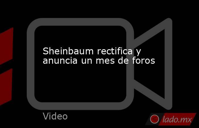Sheinbaum rectifica y anuncia un mes de foros. Noticias en tiempo real