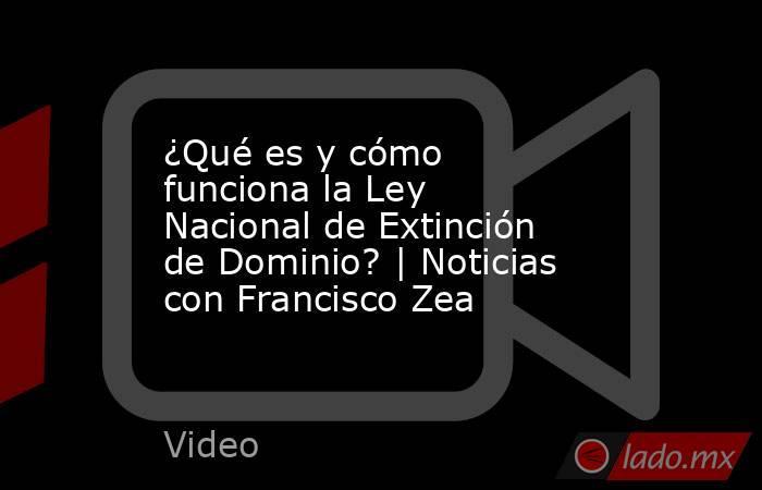 ¿Qué es y cómo funciona la Ley Nacional de Extinción de Dominio? | Noticias con Francisco Zea. Noticias en tiempo real