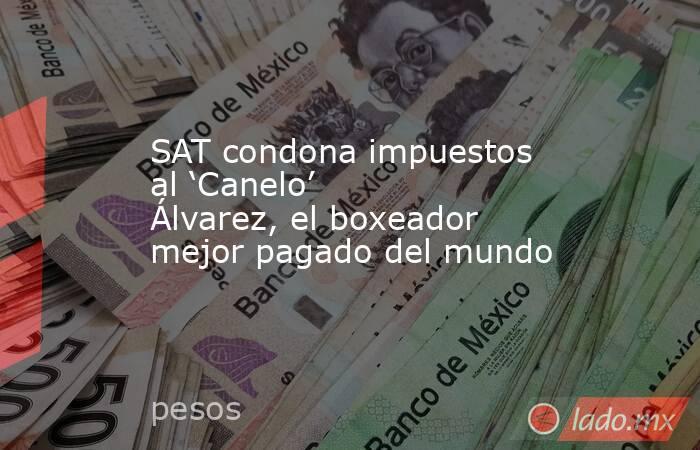 SAT condona impuestos al 'Canelo' Álvarez, el boxeador mejor pagado del mundo. Noticias en tiempo real