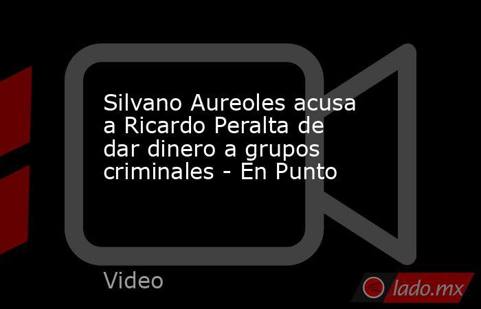 Silvano Aureoles acusa a Ricardo Peralta de dar dinero a grupos criminales - En Punto. Noticias en tiempo real