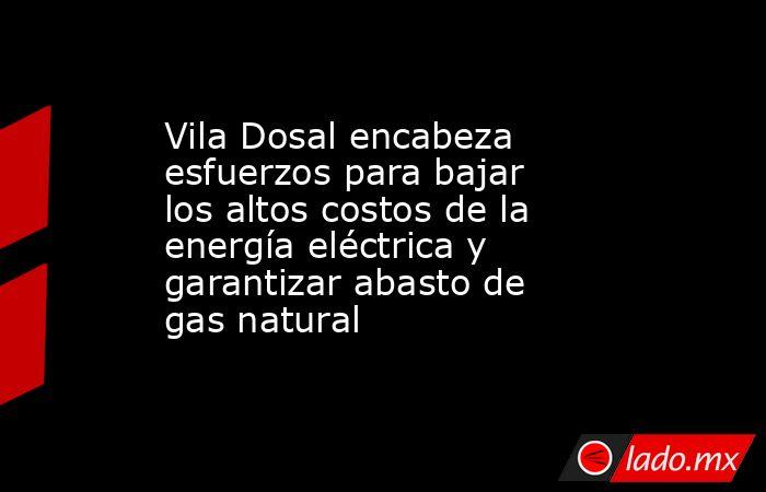 Vila Dosal encabeza esfuerzos para bajar los altos costos de la energía eléctrica y garantizar abasto de gas natural. Noticias en tiempo real