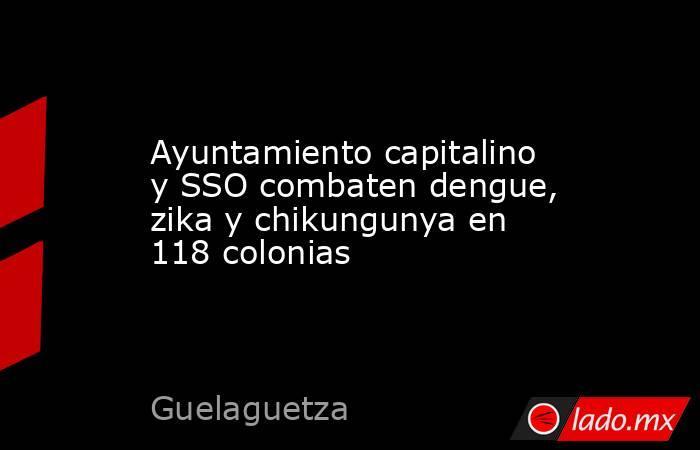Ayuntamiento capitalino y SSO combaten dengue, zika y chikungunya en 118 colonias. Noticias en tiempo real