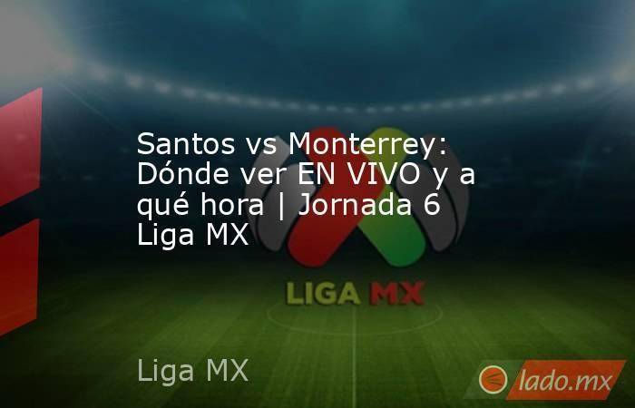 Santos vs Monterrey: Dónde ver EN VIVO y a qué hora   Jornada 6 Liga MX. Noticias en tiempo real