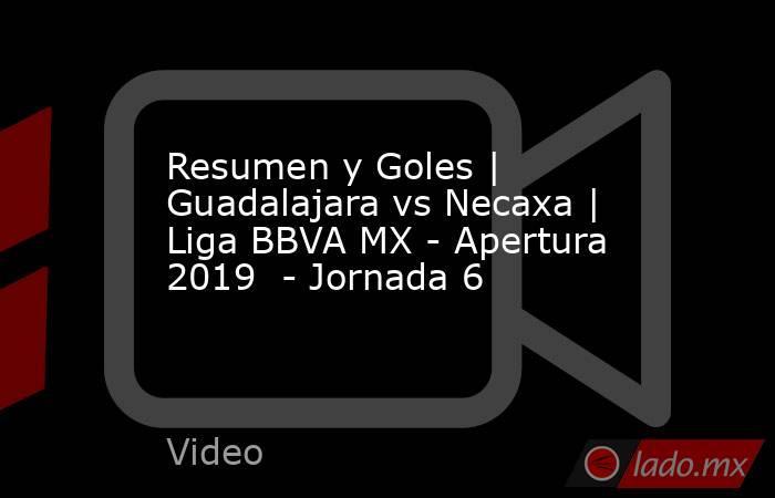 Resumen y Goles | Guadalajara vs Necaxa | Liga BBVA MX - Apertura 2019  - Jornada 6. Noticias en tiempo real