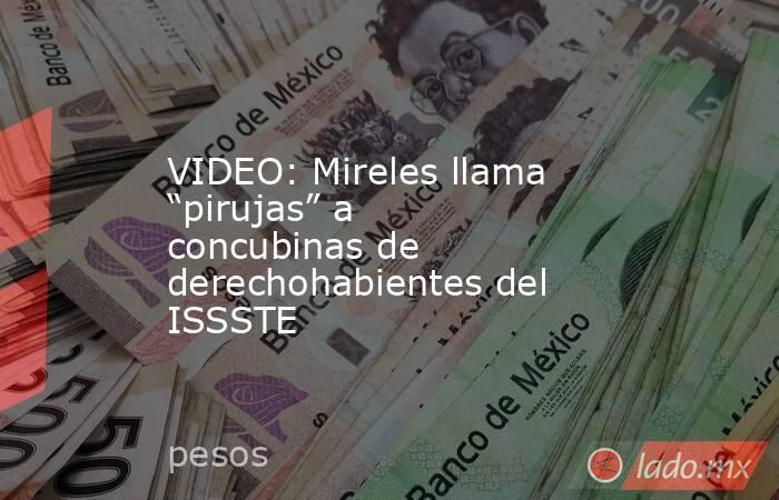 """VIDEO: Mireles llama """"pirujas"""" a concubinas de derechohabientes del ISSSTE. Noticias en tiempo real"""