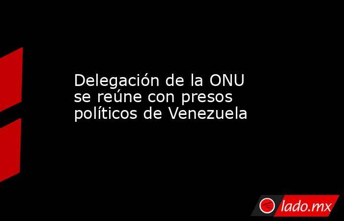 Delegación de la ONU se reúne con presos políticos de Venezuela. Noticias en tiempo real