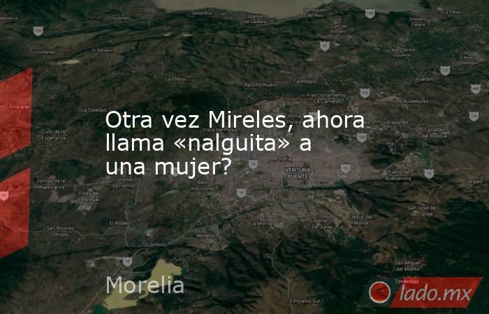 Otra vez Mireles, ahora llama «nalguita» a una mujer?. Noticias en tiempo real
