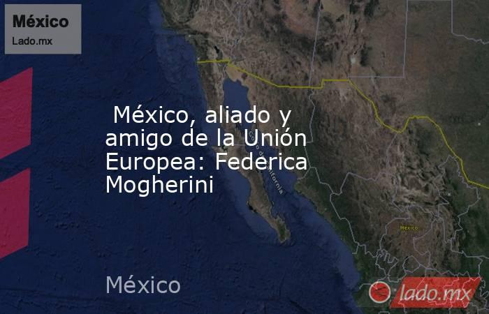México, aliado y amigo de la Unión Europea: Federica Mogherini. Noticias en tiempo real