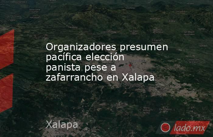 Organizadores presumen pacífica elección panista pese a zafarrancho en Xalapa. Noticias en tiempo real